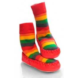 Calcetines antideslizantes Arco Iris Mocc Ons 12-18m