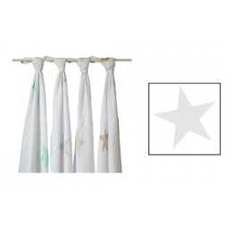 Arrullo Muselina Classic Super Star Scout aden+anais (1 ud) - silver-star