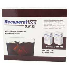 Suero Oral sabor Cola Recuperation 2 bricks x 250 ml