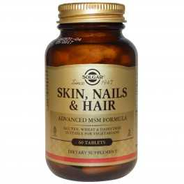 Complemento Alimenticio Skin, Nails and Hair (piel, uñas y cabello) SOLGAR 60 comp