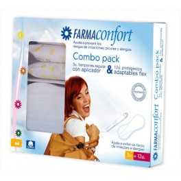 Farmaconfort Pack 3 Tampones regulares con aplicador + 12 Protegeslips Adaptables Flex