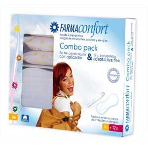pack farmaconfort 3 tampones regulares + 12 protegeslip adaptables