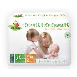 Pañal Ecológico Desechable BioBabby Mini 3-6 Kg 36 unds