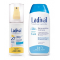 Duplo Ladival Corporal Piel Sensible o Alérgica Fotoprotector Spray Gel Crema Fps 50+ Alta 150 ml + After Sun 200 ml