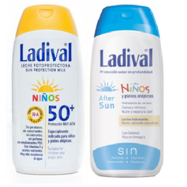 Duplo Ladival niños: fotoprotector leche FPS50+ muy alta 200 ml / after sun 200 ml