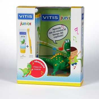 Pack musical vitis junior gel dentifrico 75 ml + cepillo dental