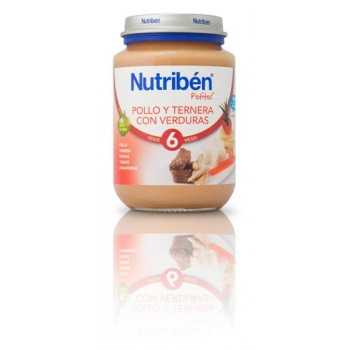 Nutribén junior pollo con ternera y verduras 200 gr (6m+)