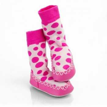 Calcetines antideslizantes rosa lunares mocc ons 12-18m
