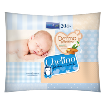 Toallitas dermo sensitive chelino easy & go (20 uds)