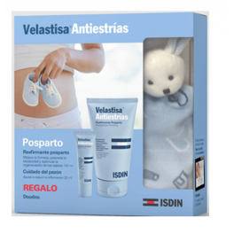 Pack Velastisa Reafirmante Post-Parto (150 ml) + Cuidado del pezón (30 ml) + Doudou ISDIN