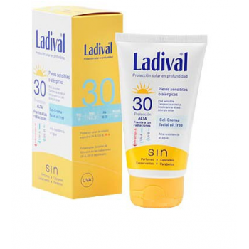 Ladival facial piel sensible o alérgica gel crema fps 30