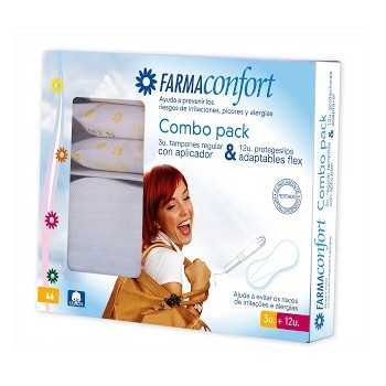 Farmaconfort pack 3 tampones regulares con aplicador + 12