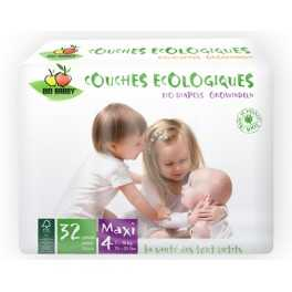 Pañal Ecológico Desechable BioBabby Maxi 7-16 Kg 32 unds