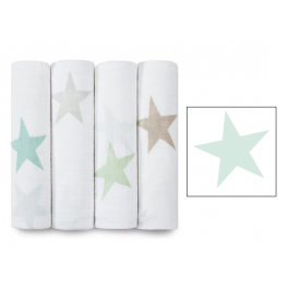 Arrullo Muselina Classic Super Star Scout aden+anais (1 ud) - pale-sea-green-star