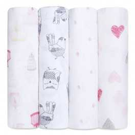 Arrullo Muselina Classic Lovebird aden+anais (pack 4 ud)