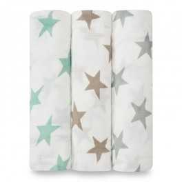 Arrullo Muselina Milky way Silky soft aden+anais (pack 3 ud)