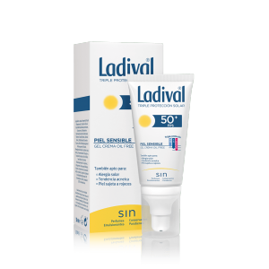 ladival facial piel sensible o alergica gel crema 50+ 75ml