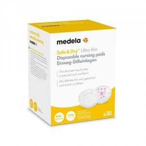 discos lactancia safe and dry ultrafinos medela 30 unds