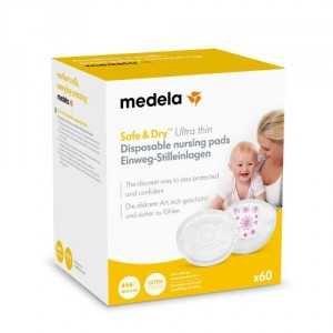 discos lactancia safe and dry ultrafinos medela 60 unds