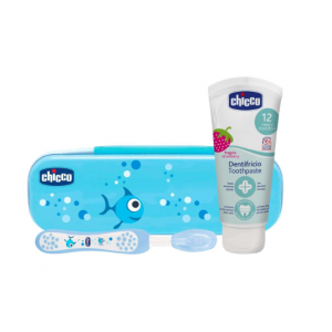 set dental azul chicco +12 meses