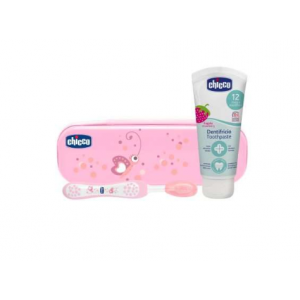set dental rosa chicco +12 meses