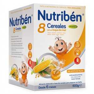 nutriben 8 cereales miel digest 600 gr