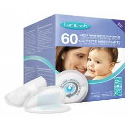Discos absorbentes desechables ultrafinos LANSINOH 60 uds