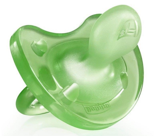 Chupete Physiosoft silicona Chicco Verde 0-6 Meses 1UD