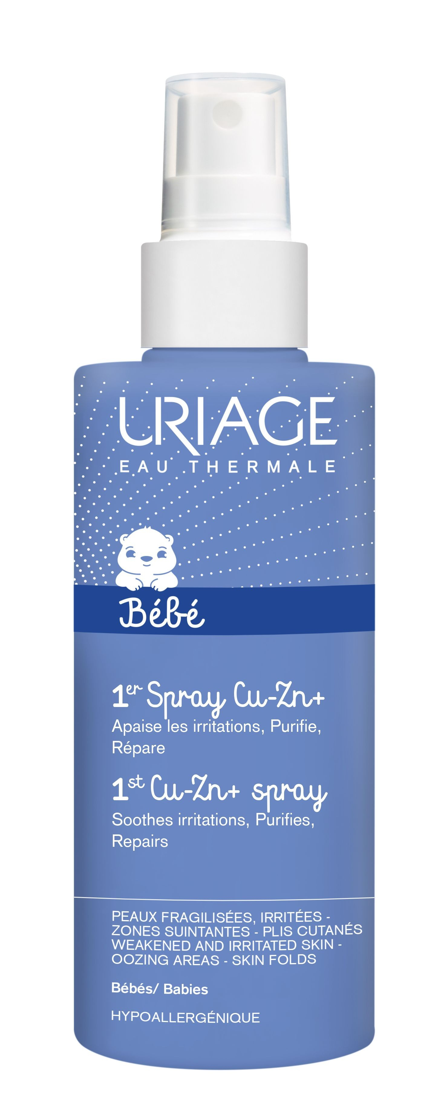 URIAGE Spray Anti-Irritaciones Bebés CU-ZN+ 100 ml