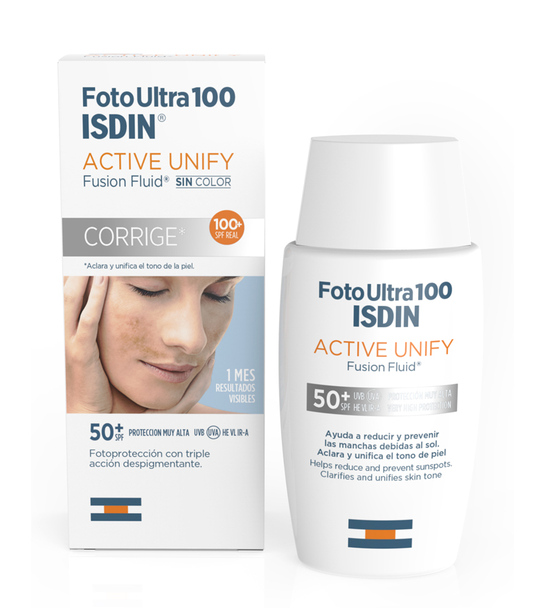 FotoUltra 100 Isdin Active Unify Fusion Fluid sin color 50 ml