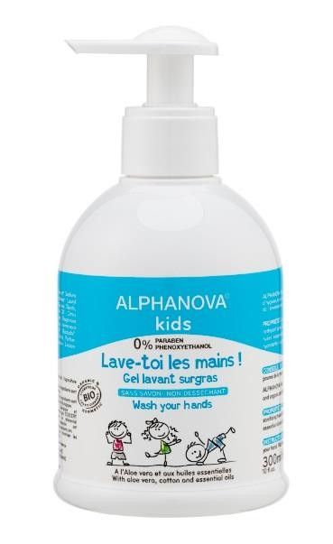 ALPHANOVA KIDS Gel limpiador y desinfectante de manos 300 ml