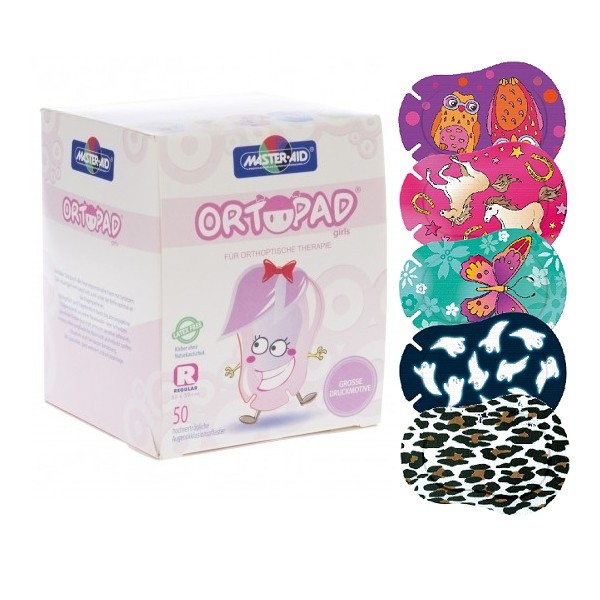Ortopad Girls Motivos grandes Regular 50 uds (73224)