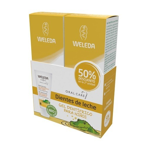 Pack Duo Gel Dentífrico para Niños 50 ml Weleda