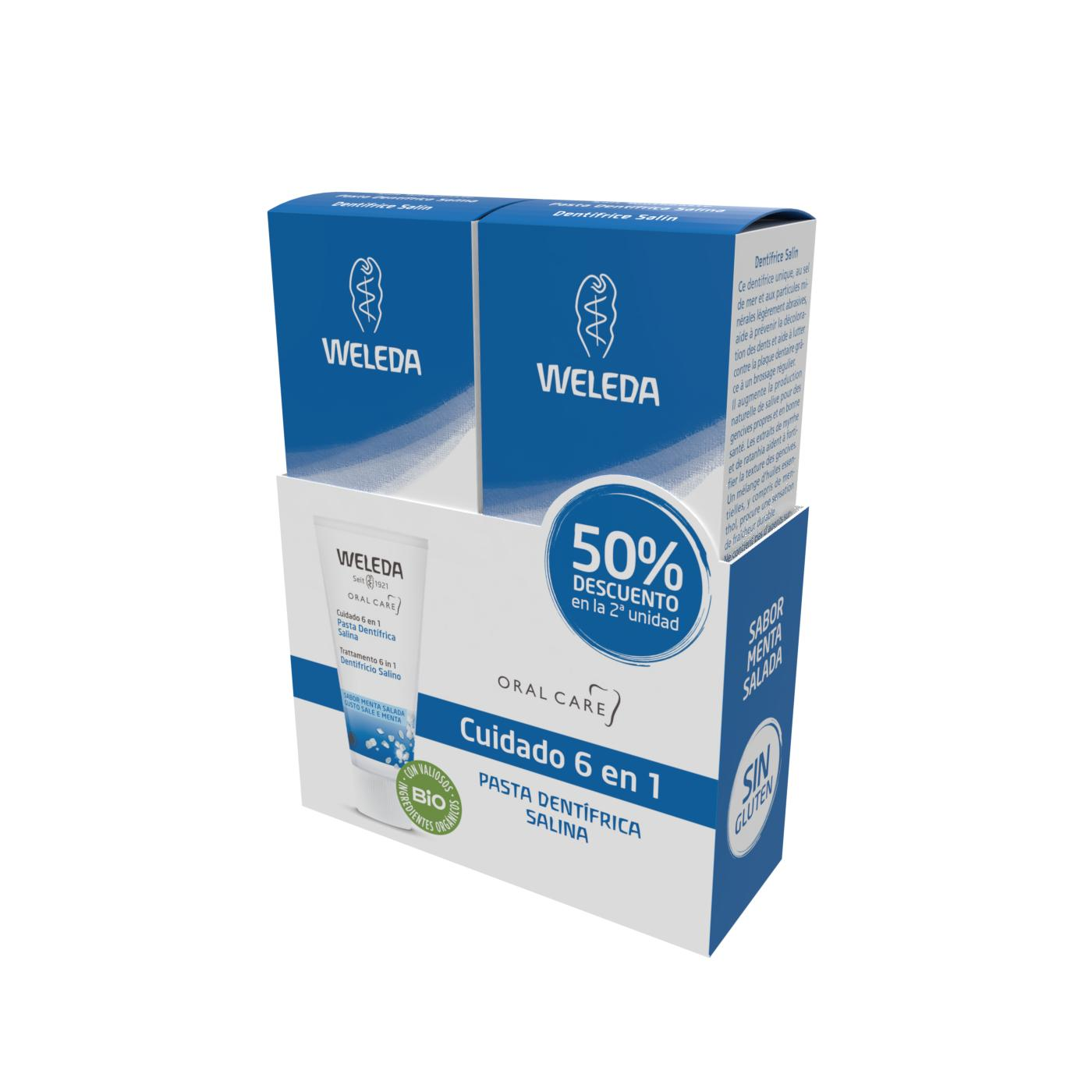 Pack Duo Pasta Dentífrica Salina Weleda 75 ml